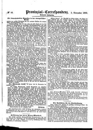 Provinzial-Correspondenz vom 03.11.1869