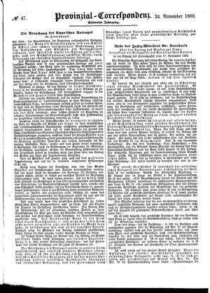 Provinzial-Correspondenz vom 24.11.1869