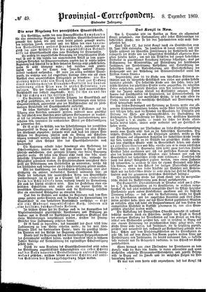 Provinzial-Correspondenz on Dec 8, 1869