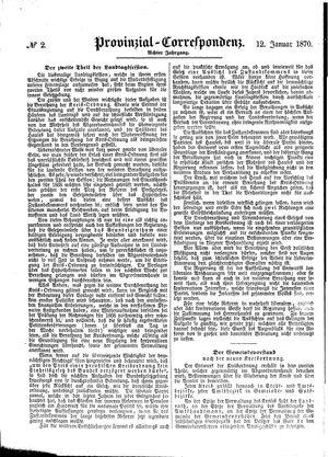 Provinzial-Correspondenz vom 12.01.1870