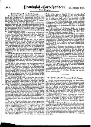 Provinzial-Correspondenz vom 26.01.1870