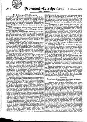 Provinzial-Correspondenz vom 02.02.1870