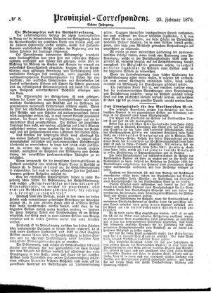 Provinzial-Correspondenz vom 23.02.1870