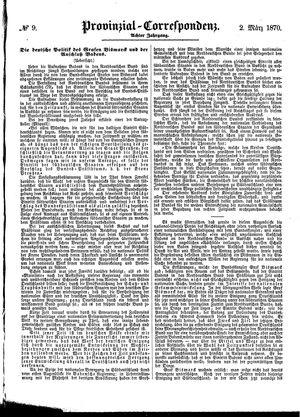 Provinzial-Correspondenz on Mar 2, 1870