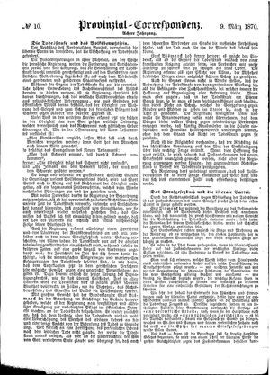 Provinzial-Correspondenz vom 09.03.1870