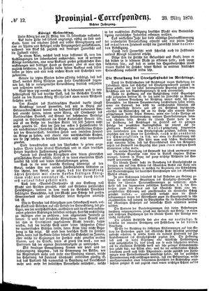 Provinzial-Correspondenz vom 23.03.1870