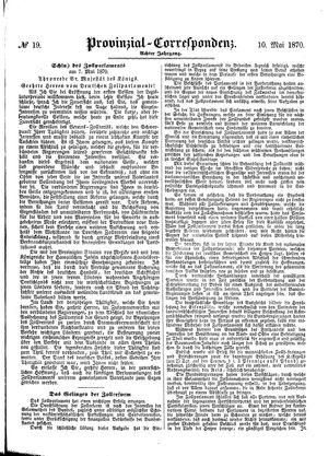 Provinzial-Correspondenz vom 10.05.1870