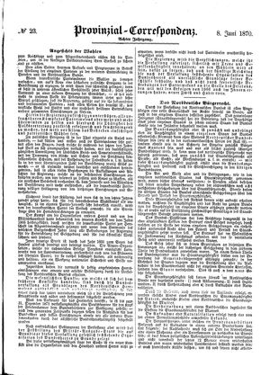 Provinzial-Correspondenz vom 08.06.1870