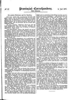 Provinzial-Correspondenz on Jul 6, 1870