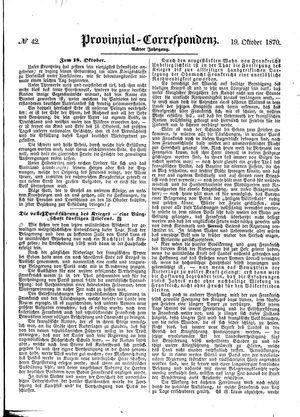 Provinzial-Correspondenz on Oct 19, 1870