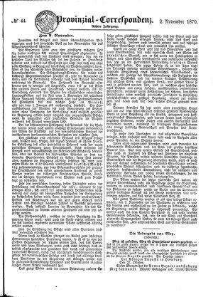 Provinzial-Correspondenz vom 02.11.1870