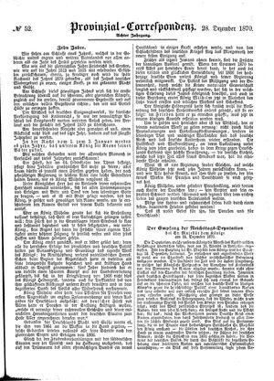 Provinzial-Correspondenz vom 28.12.1870