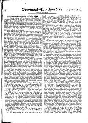 Provinzial-Correspondenz vom 03.01.1872