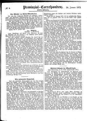 Provinzial-Correspondenz on Jan 24, 1872