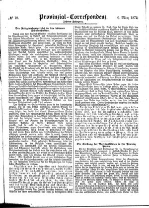 Provinzial-Correspondenz vom 06.03.1872