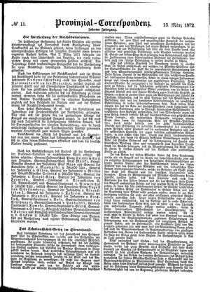 Provinzial-Correspondenz vom 13.03.1872