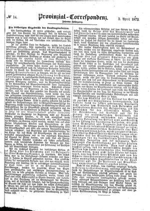 Provinzial-Correspondenz vom 03.04.1872