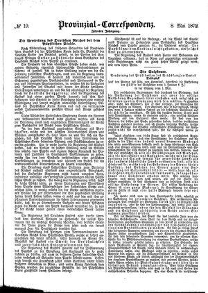 Provinzial-Correspondenz vom 08.05.1872