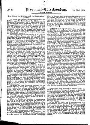 Provinzial-Correspondenz vom 15.05.1872