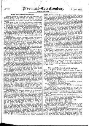 Provinzial-Correspondenz vom 03.07.1872