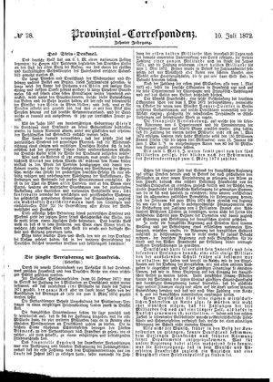Provinzial-Correspondenz vom 10.07.1872