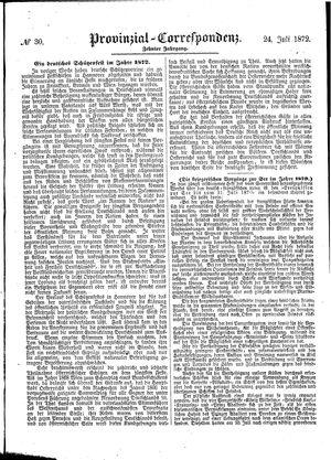 Provinzial-Correspondenz vom 24.07.1872