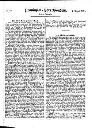 Provinzial-Correspondenz vom 07.08.1872
