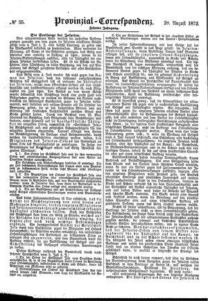 Provinzial-Correspondenz vom 28.08.1872