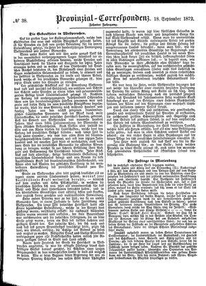 Provinzial-Correspondenz vom 18.09.1872