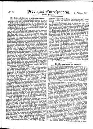 Provinzial-Correspondenz vom 02.10.1872