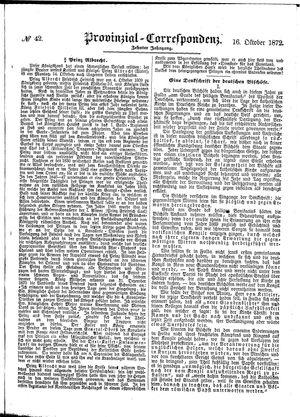 Provinzial-Correspondenz vom 16.10.1872