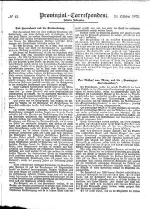 Provinzial-Correspondenz vom 23.10.1872