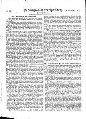 Provinzial-Correspondenz vom 04.12.1872