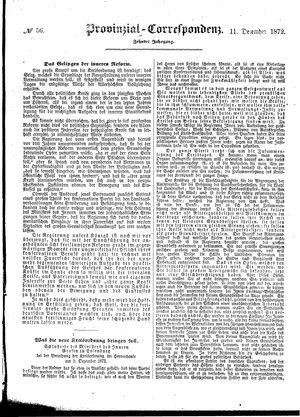 Provinzial-Correspondenz vom 11.12.1872