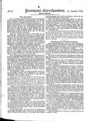 Provinzial-Correspondenz vom 18.12.1872