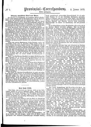 Provinzial-Correspondenz on Jan 2, 1873