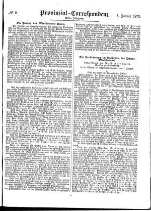 Provinzial-Correspondenz vom 08.01.1873