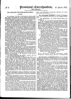 Provinzial-Correspondenz vom 19.02.1873