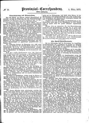 Provinzial-Correspondenz vom 05.03.1873