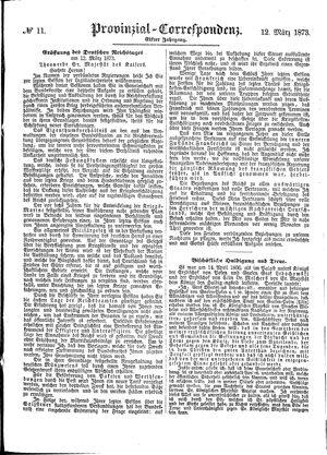 Provinzial-Correspondenz vom 12.03.1873