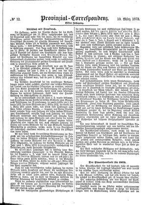 Provinzial-Correspondenz vom 19.03.1873