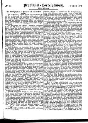 Provinzial-Correspondenz vom 09.04.1873