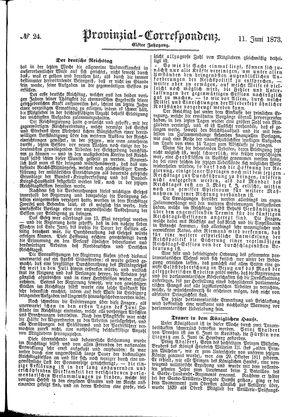 Provinzial-Correspondenz vom 11.06.1873