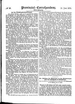 Provinzial-Correspondenz vom 18.06.1873
