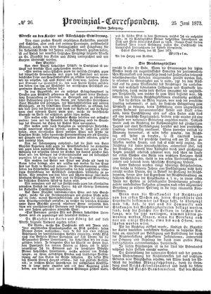 Provinzial-Correspondenz on Jun 25, 1873