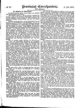 Provinzial-Correspondenz vom 02.07.1873