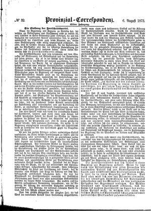 Provinzial-Correspondenz vom 06.08.1873