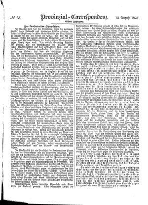Provinzial-Correspondenz vom 13.08.1873