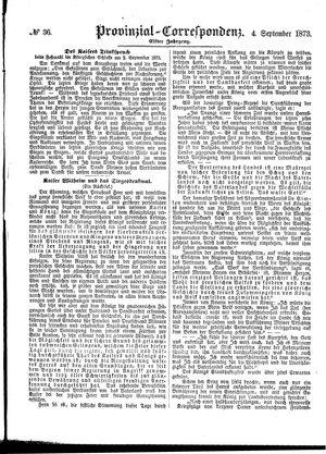 Provinzial-Correspondenz vom 04.09.1873