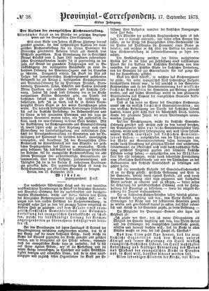 Provinzial-Correspondenz vom 17.09.1873